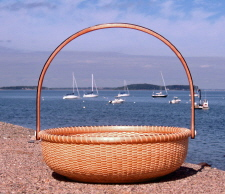 "12"" Maple Basket With Accents of Ebony"